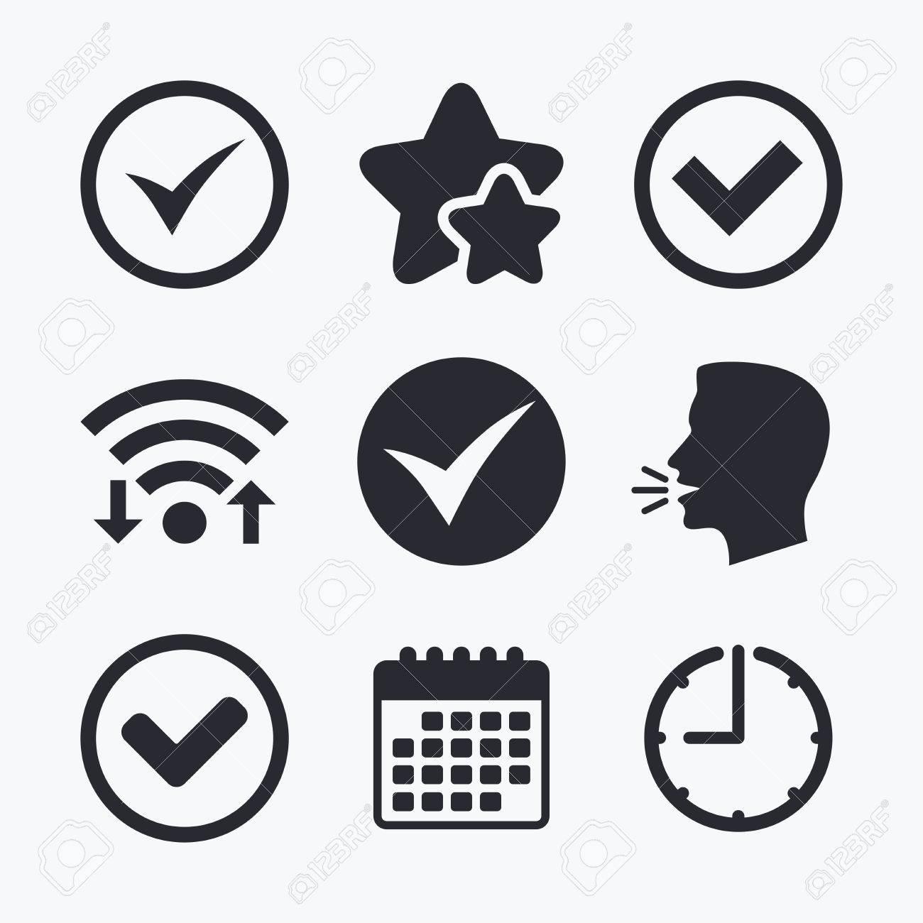 check icons checkbox confirm circle sign symbols wifi internet