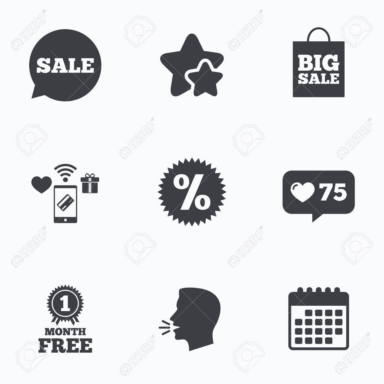 Sale Speech Bubble Icon Discount Star Symbol Big Sale Shopping