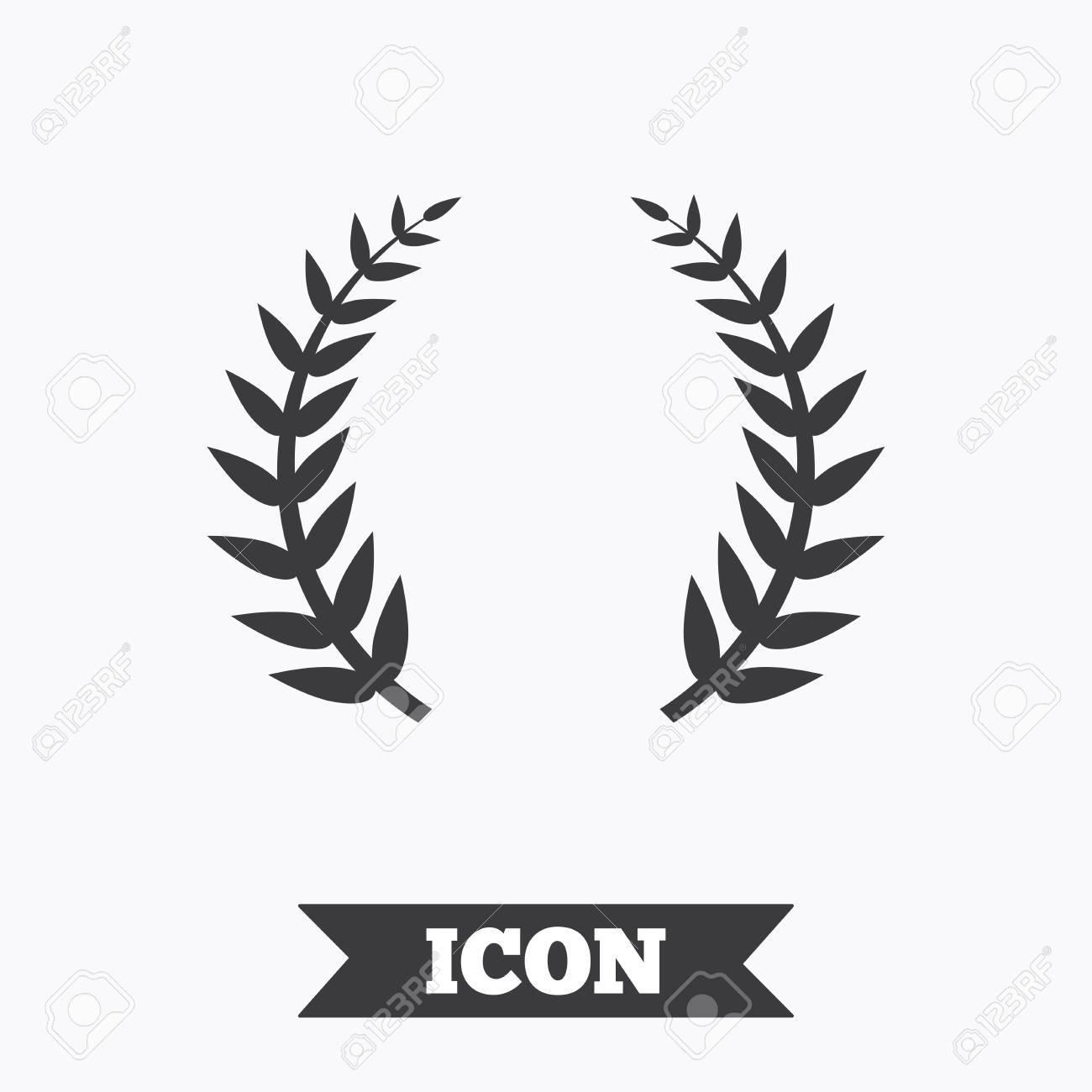 Laurel Wreath Sign Icon Triumph Symbol Graphic Design Element