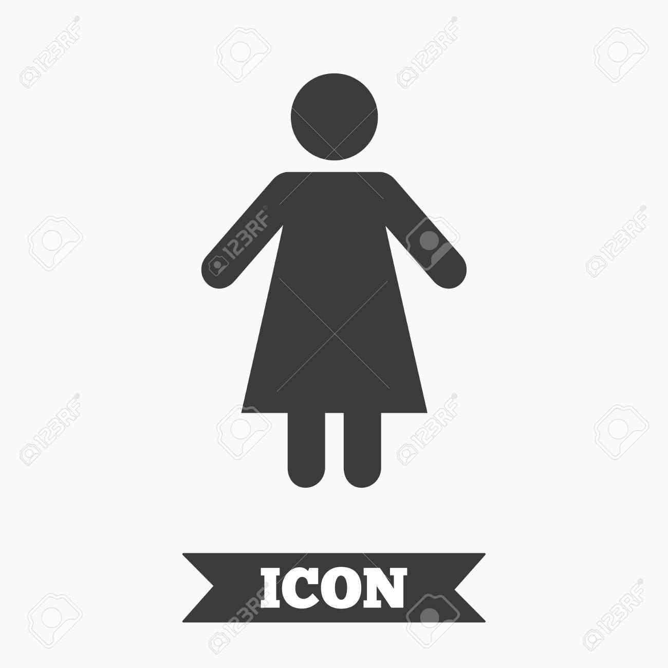 Icône De Signe Féminin Symbole Humain De Femme Toilettes Pour