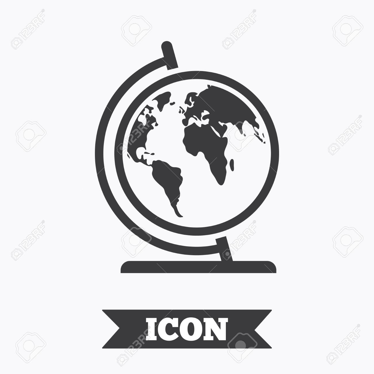 Globe sign icon world map geography symbol globe on stand for globe sign icon world map geography symbol globe on stand for studying graphic gumiabroncs Image collections