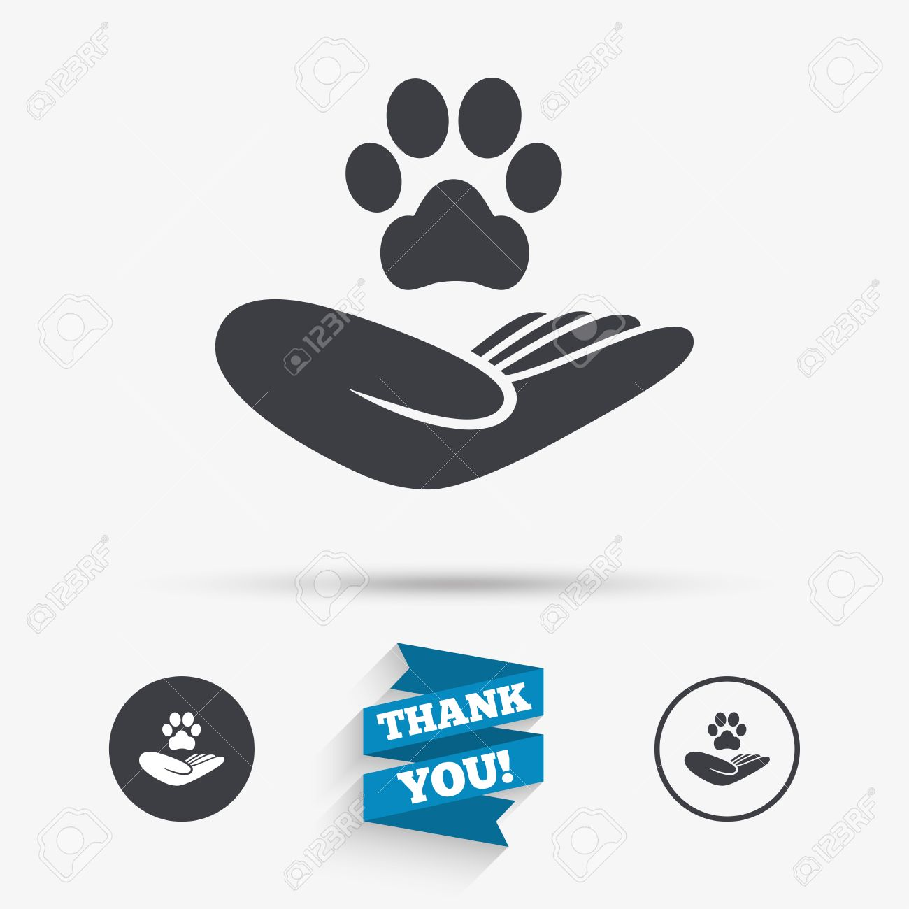 Shelter pets sign icon hand holds paw symbol animal protection shelter pets sign icon hand holds paw symbol animal protection flat icons biocorpaavc