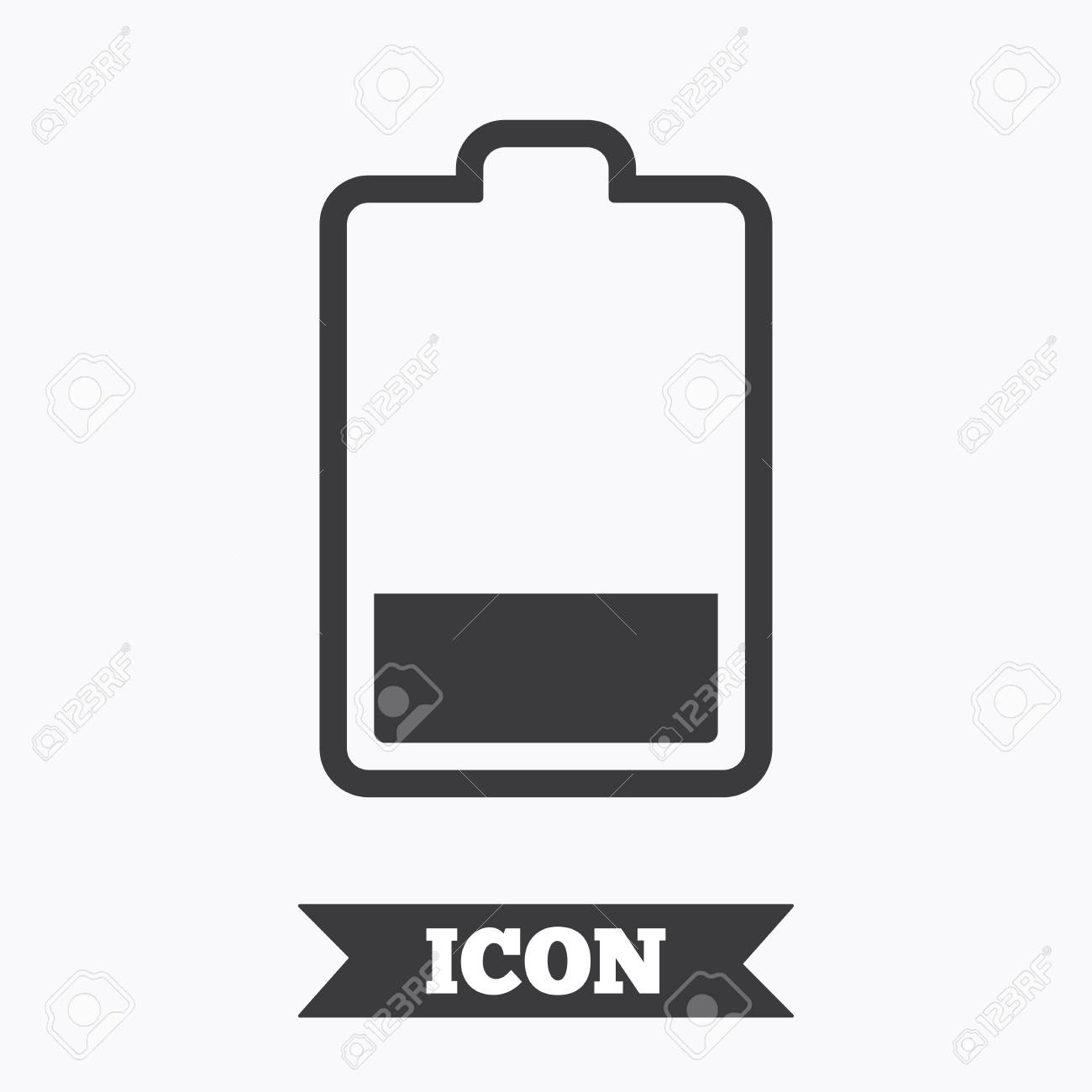Battery Low Level Sign Icon. Electricity Symbol. Graphic Design ...