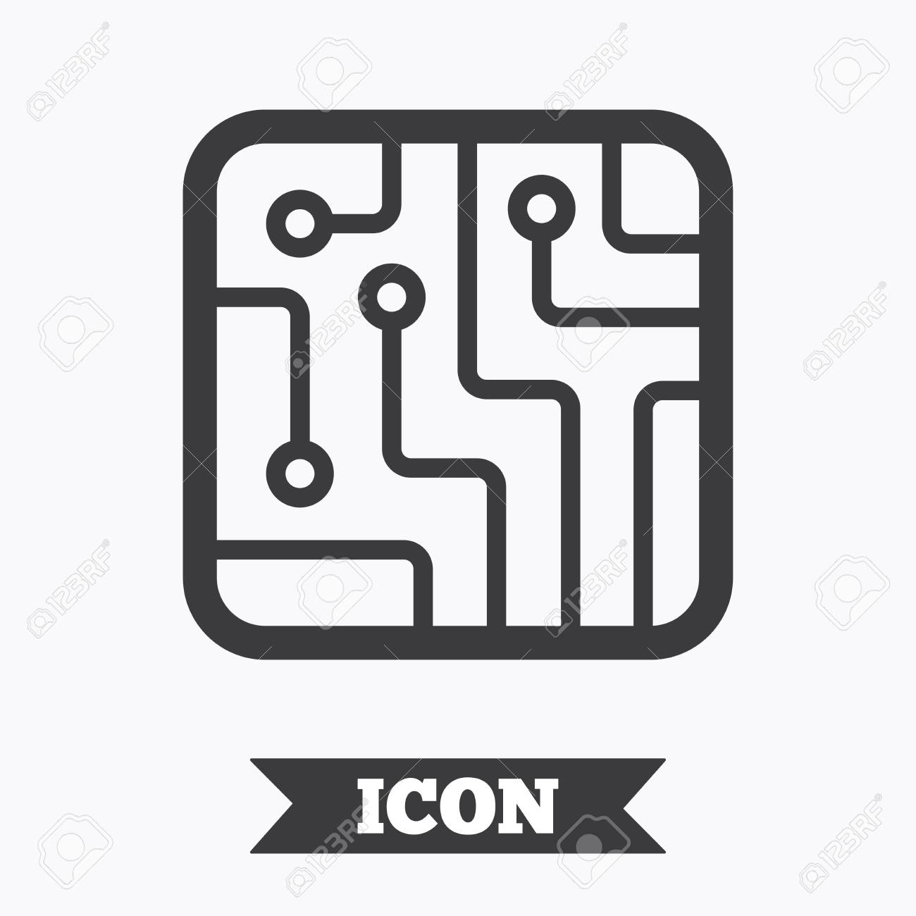 Circuit Board Sign Not Lossing Wiring Diagram Signs Icon Technology Scheme Square Symbol Graphic Rh 123rf Com Symbols