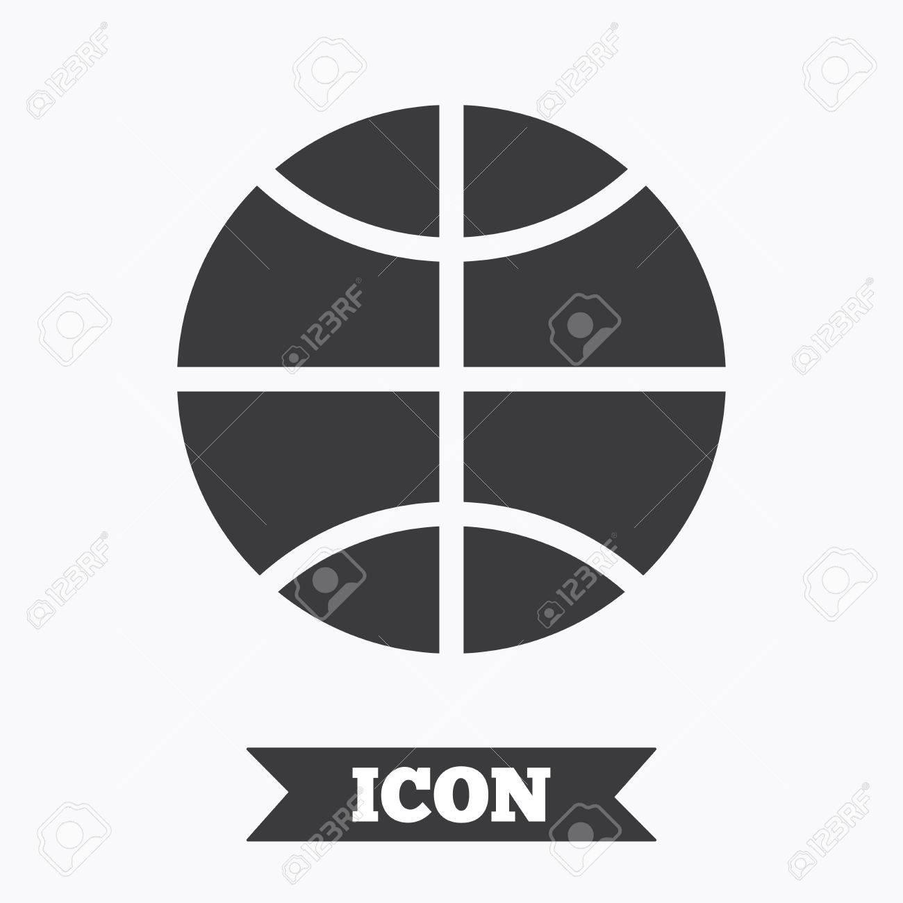 4dd122c3e632c Basketball sign icon. Sport symbol. Graphic design element. Flat..