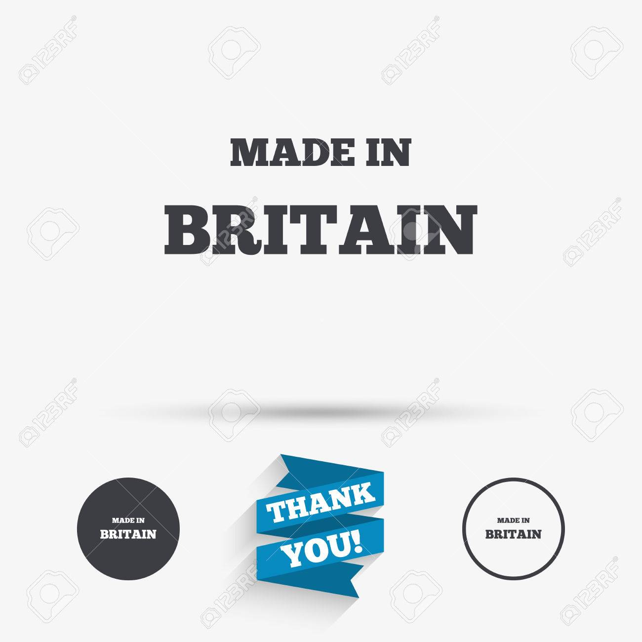 made in britain icon export production symbol product created