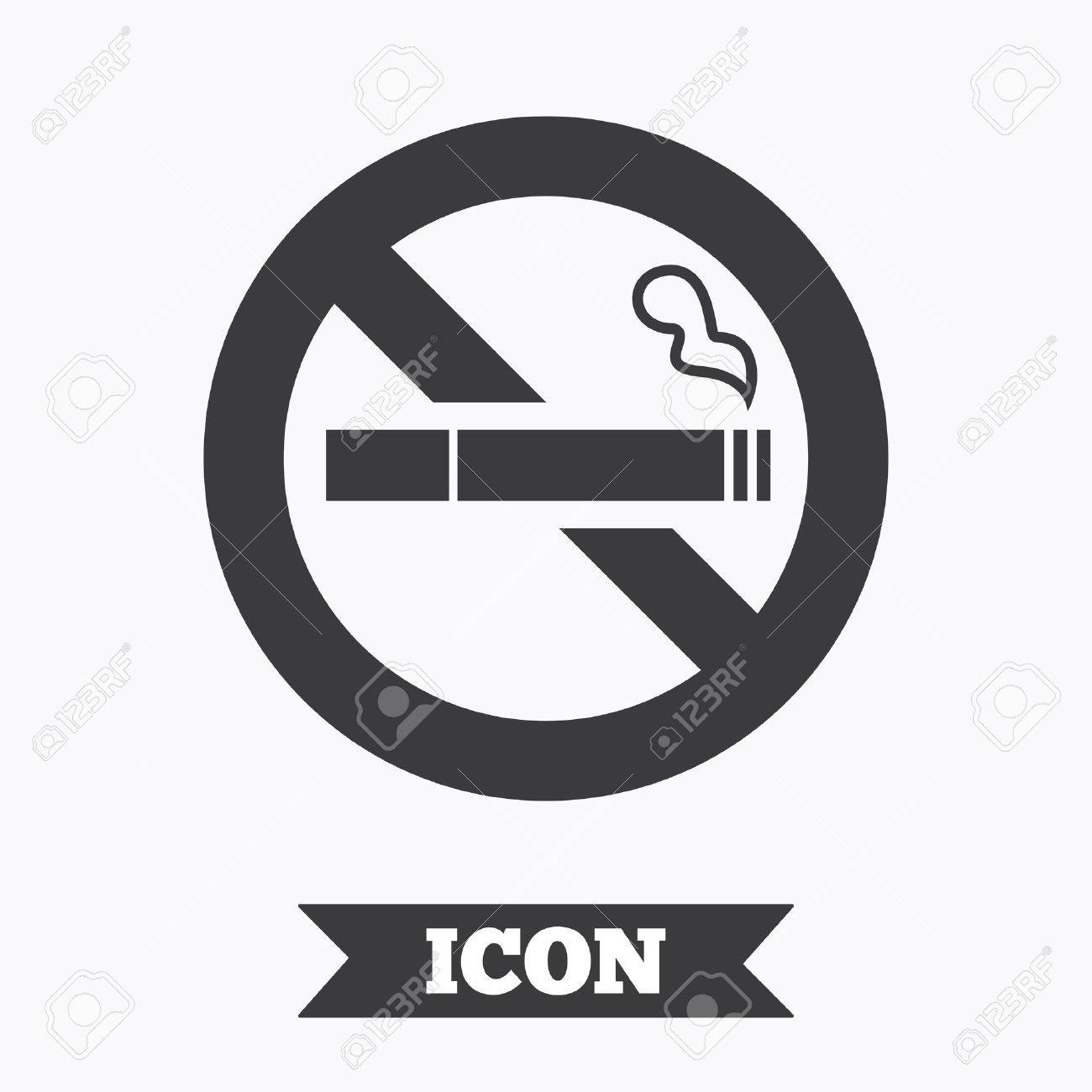 No Smoking Sign Icon Quit Smoking Cigarette Symbol Graphic