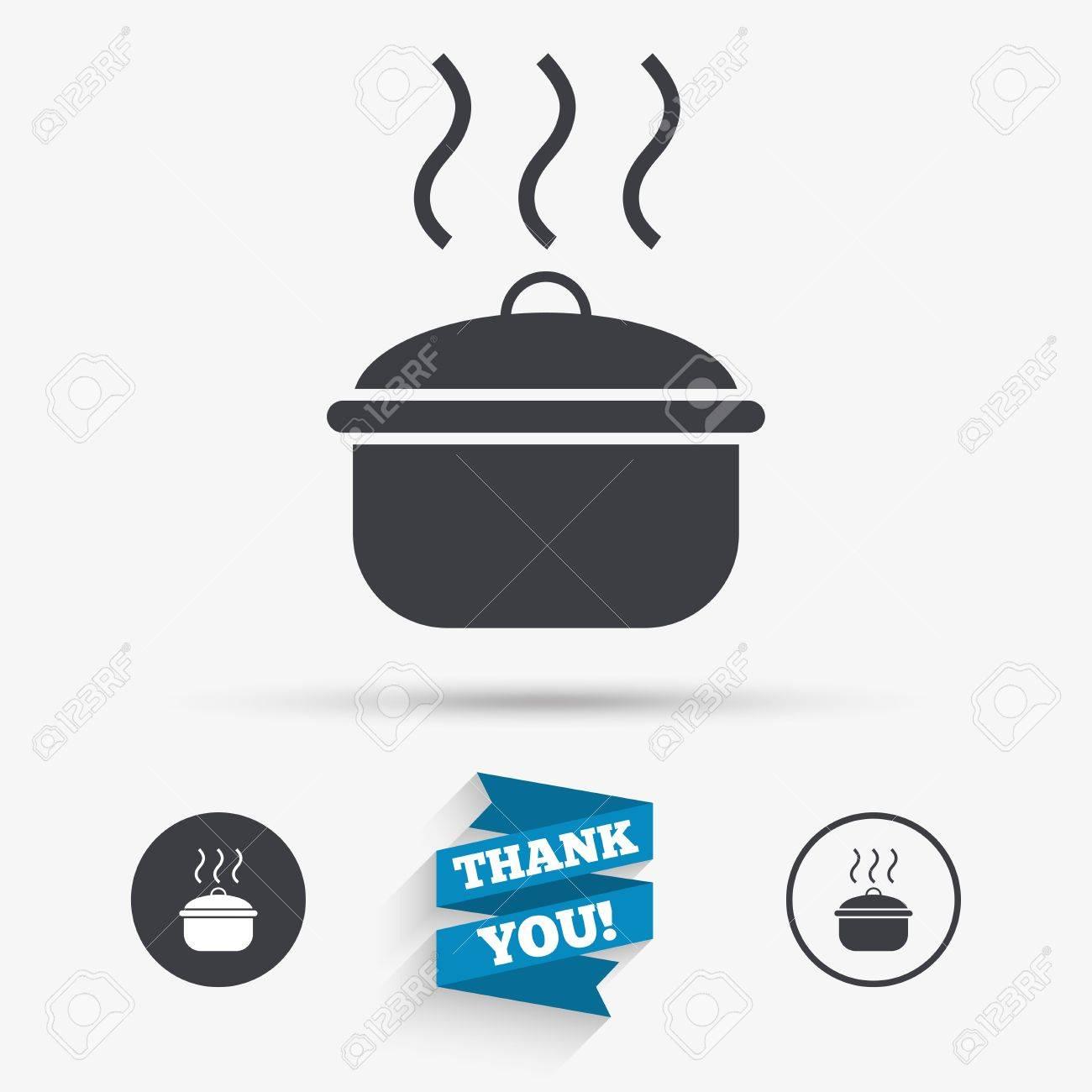 Cuisine Pan Signe Icone Faire Bouillir Ou Le Symbole De La