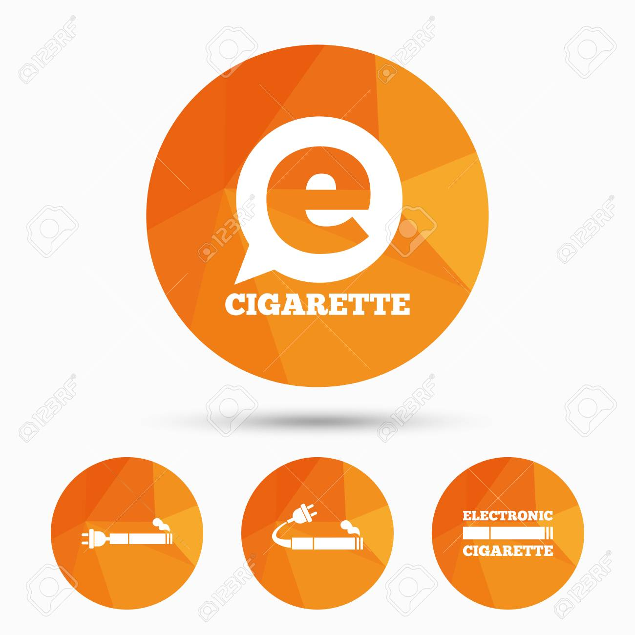 E cigarette with plug icons electronic smoking symbols speech electronic smoking symbols speech bubble sign triangular buycottarizona Images