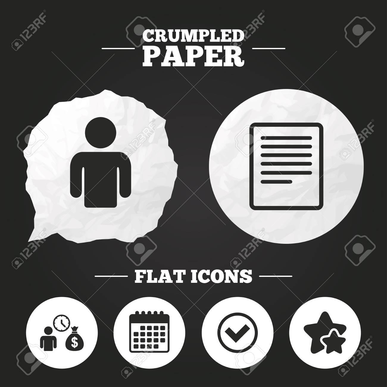 Crumpled Paper Speech Bubble Bank Loans Icons Cash Money Bag