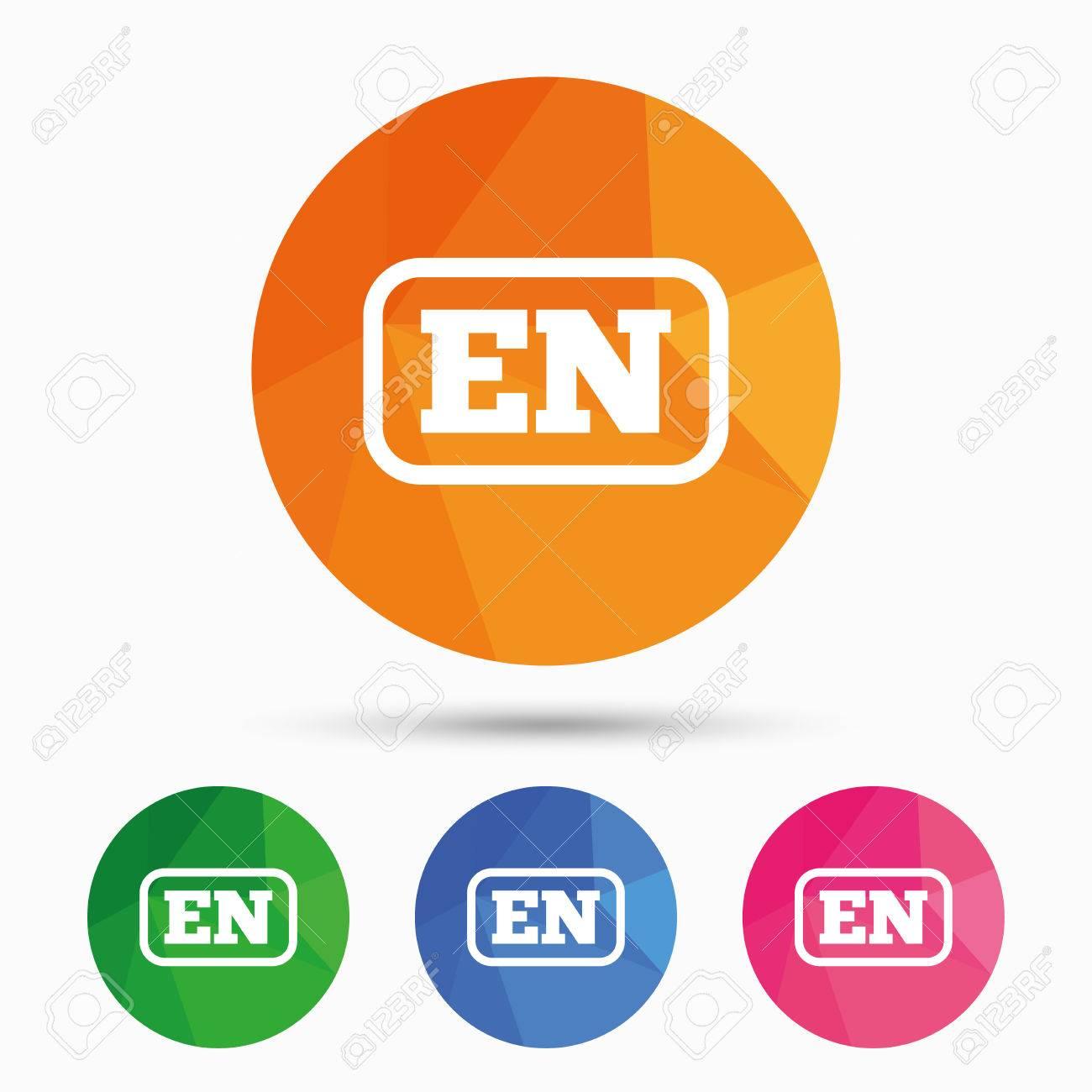 Englisch Sprachzeichen-Symbol. DE Übersetzung Symbol Mit Rahmen ...