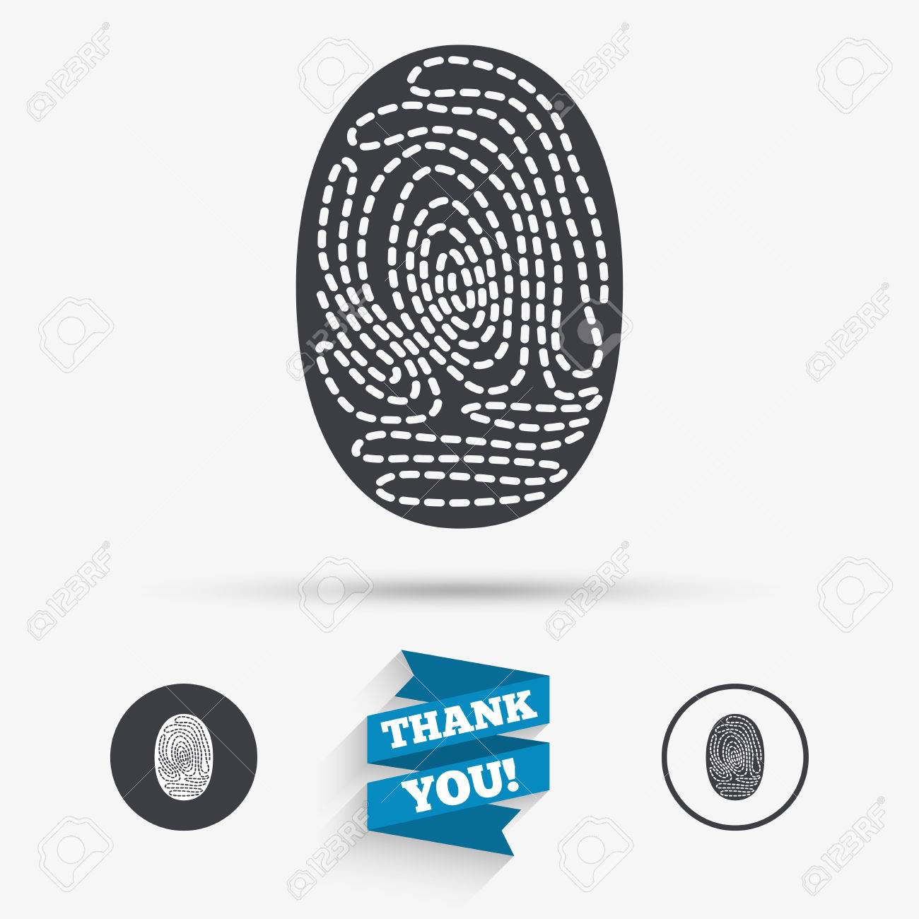 Fingerprint sign icon identification or authentication symbol identification or authentication symbol flat icons buttons with icons buycottarizona Images