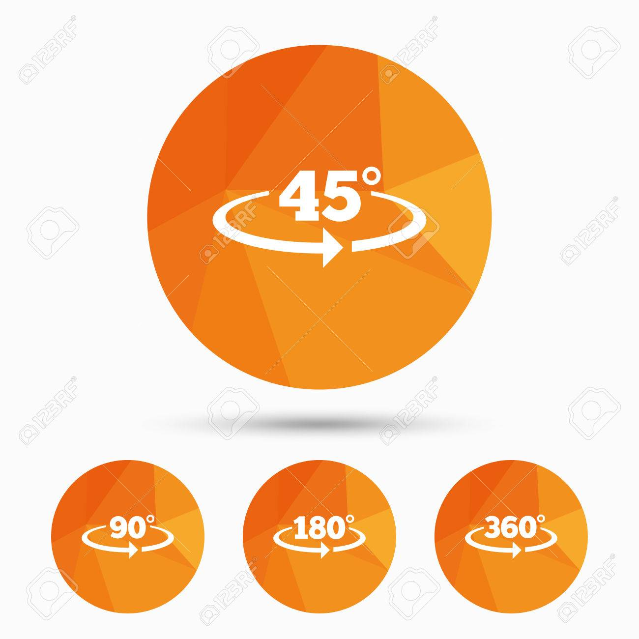 Angle 45 360 degrees icons geometry math signs symbols full vector angle 45 360 degrees icons geometry math signs symbols full complete rotation arrow buycottarizona Image collections
