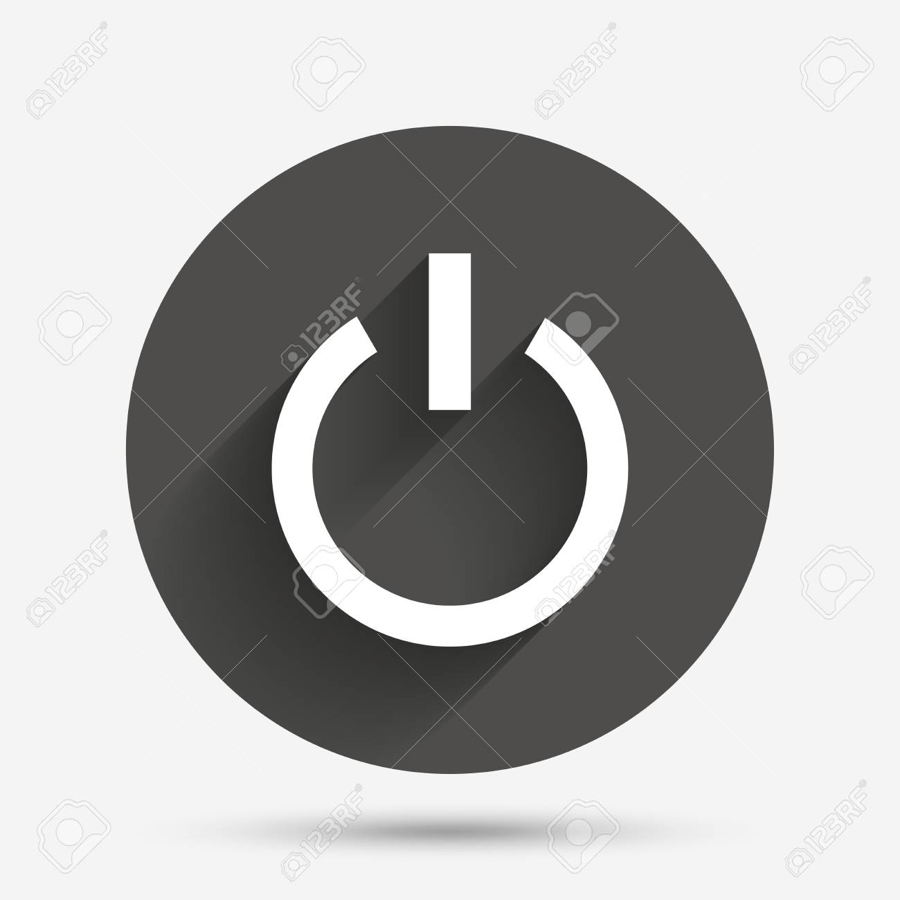 Power Sign Icon. Switch On Symbol. Turn On Energy. Circle Flat ...