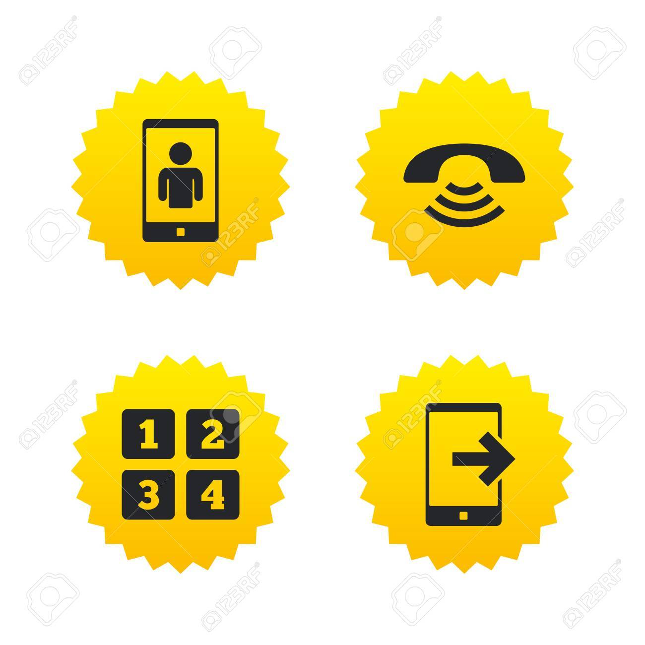 Phone Icons Smartphone Video Call Sign Call Center Support Symbol