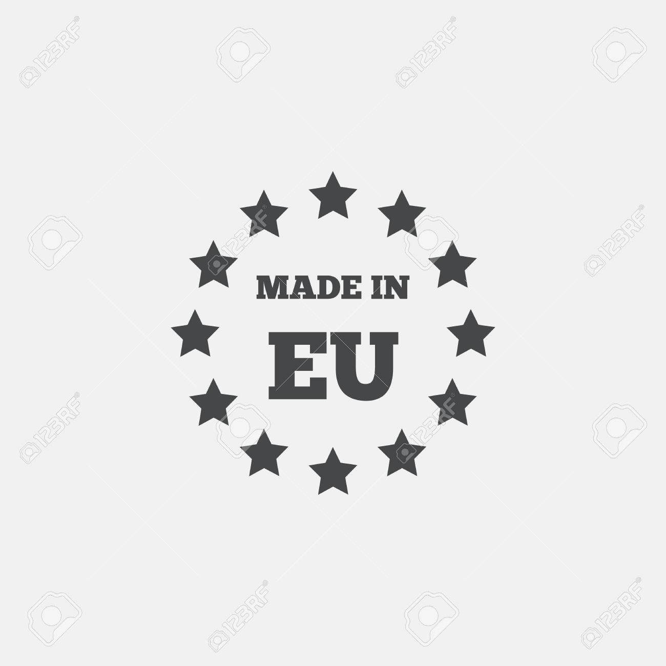Fonkelnieuw Made In EU Icon. Export Production Symbol. Product Created In DZ-97