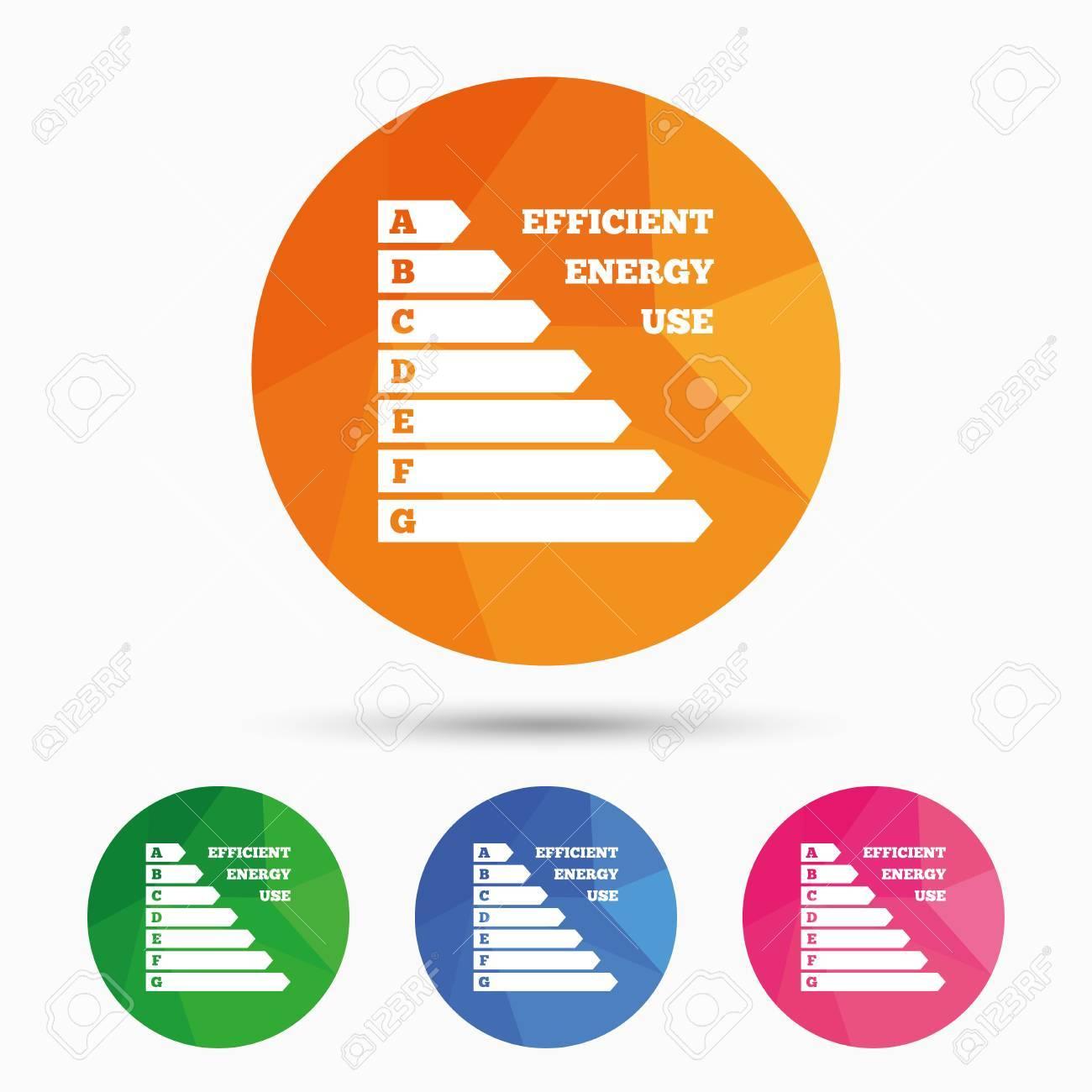 Energy Efficiency Sign Icon Electricity Consumption Symbol