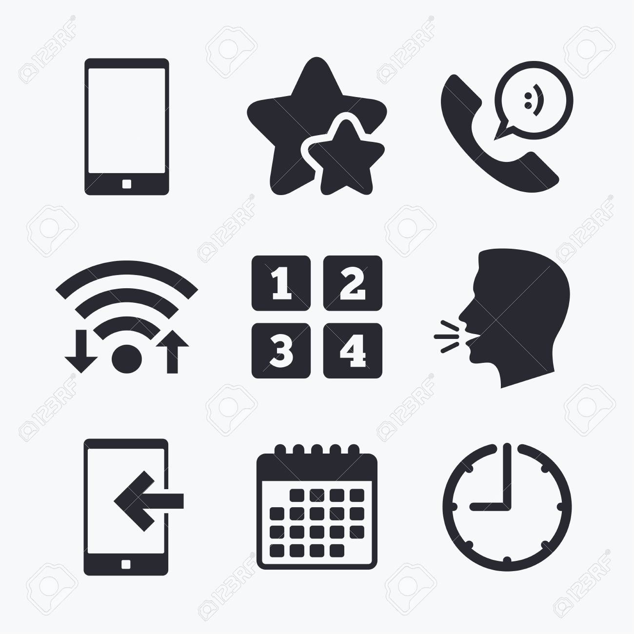 Phone icons smartphone incoming call sign call center support phone icons smartphone incoming call sign call center support symbol cellphone keyboard symbol biocorpaavc Images
