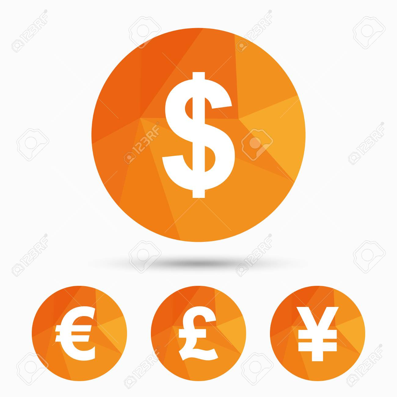Dollar euro pound and yen currency icons usd eur gbp and dollar euro pound and yen currency icons usd eur gbp and biocorpaavc Gallery