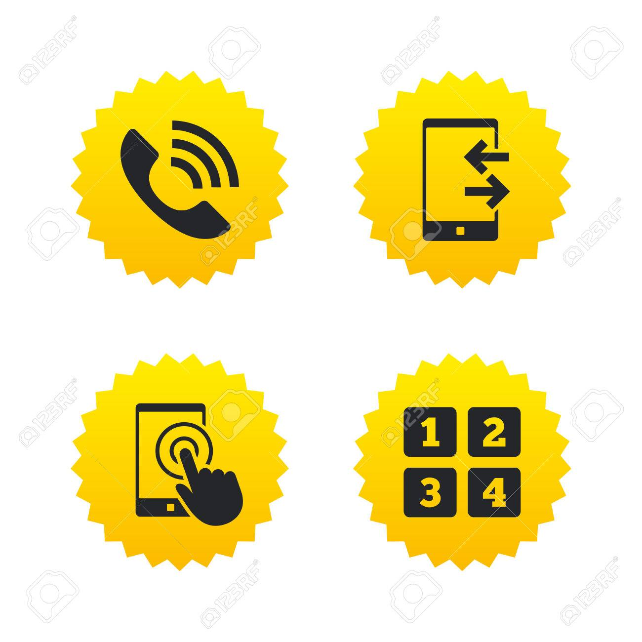 Phone icons touch screen smartphone sign call center support phone icons touch screen smartphone sign call center support symbol cellphone keyboard symbol biocorpaavc Images