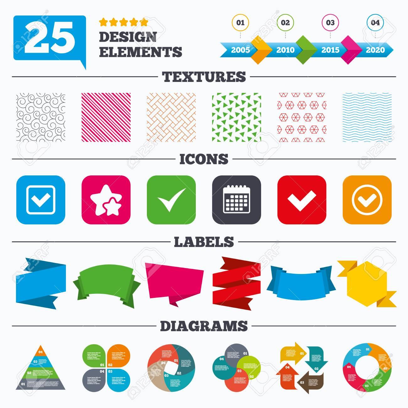 Angebot Verkauf Tags Texturen Und Charts überprüfen Sie Symbole