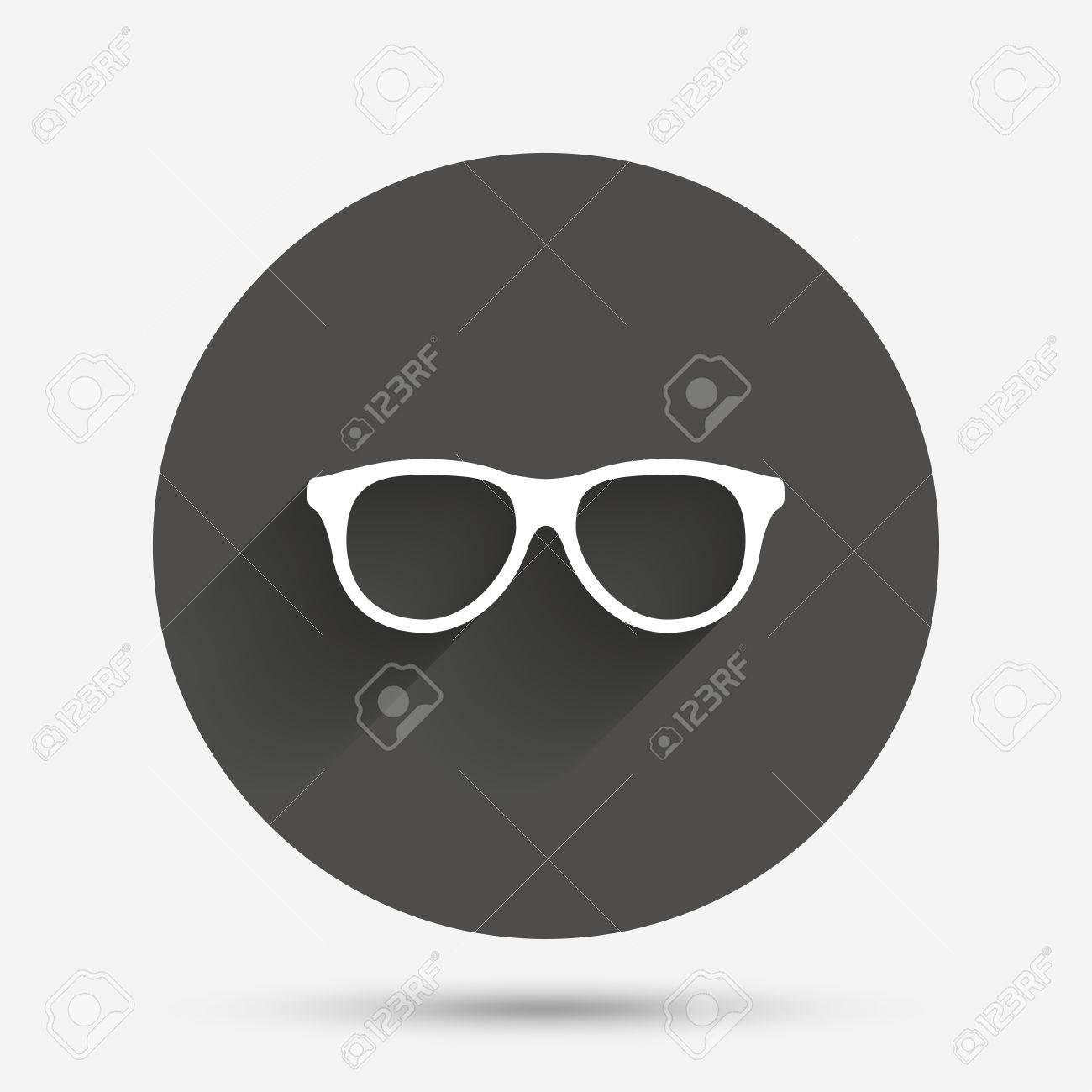 Gafas Retro Icono De La Muestra. Símbolo De Montura De Gafas ...
