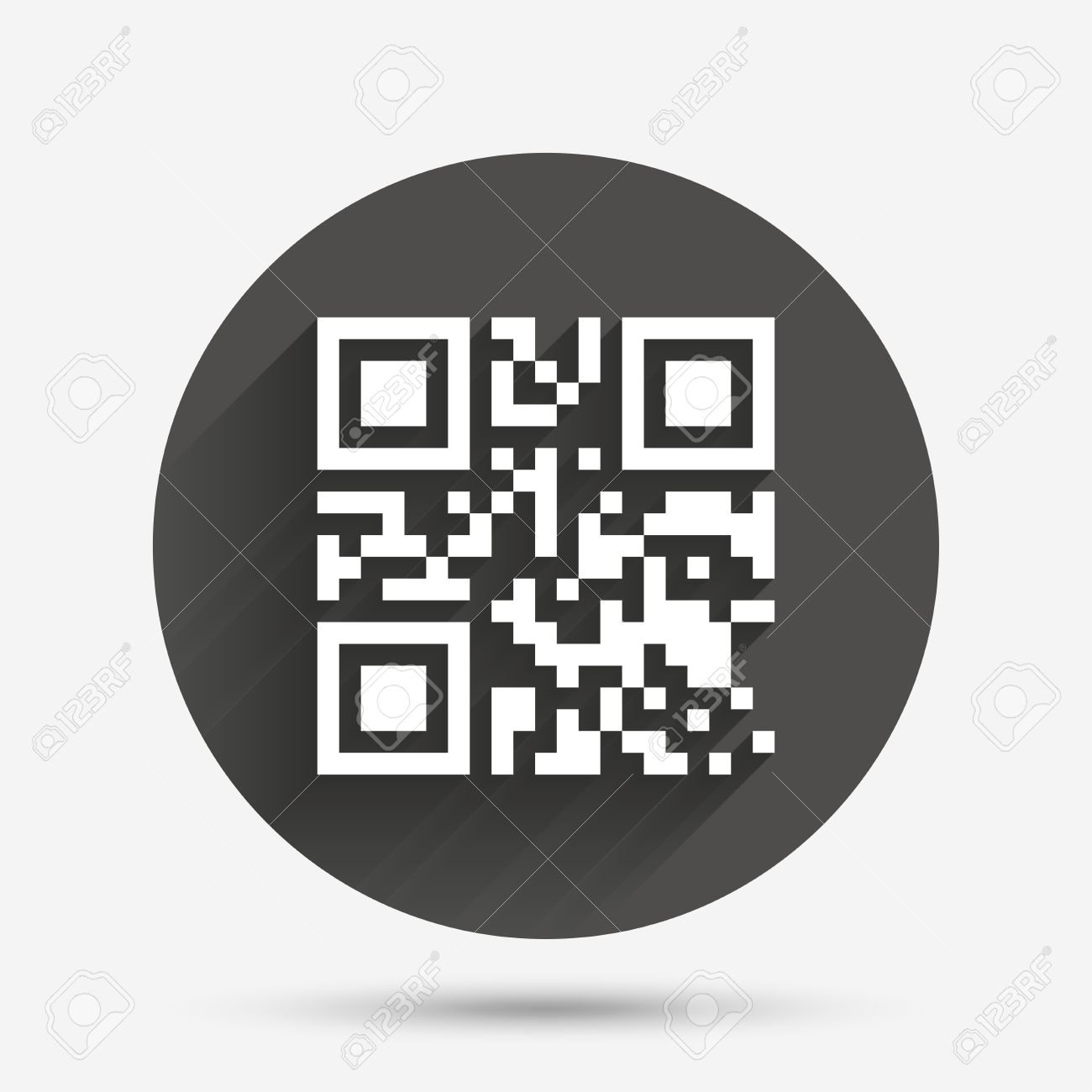 Qr code sign icon scan code symbol coded word success circle qr code sign icon scan code symbol coded word success circle flat buycottarizona