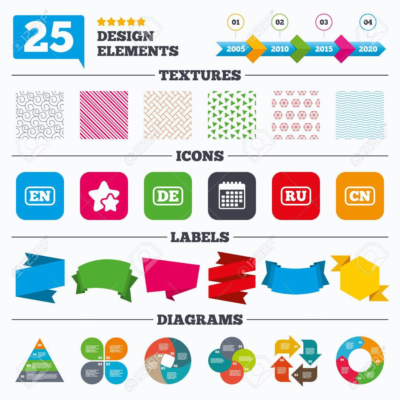 Angebot Verkauf Tags Texturen Und Charts Sprache Symbole En De