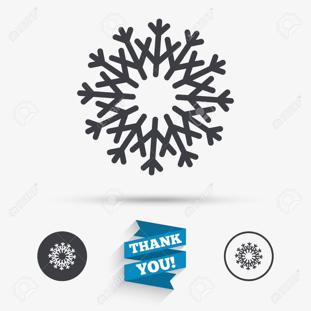 Snowflake Artistic Sign Icon Christmas And New Year Winter Symbol