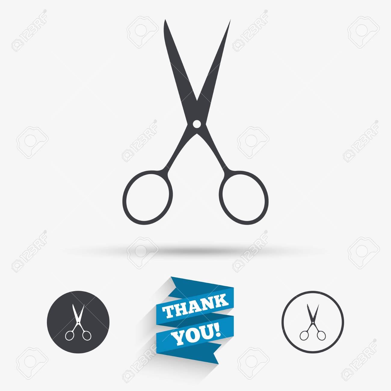 Scissors hairdresser sign icon tailor symbol flat icons buttons scissors hairdresser sign icon tailor symbol flat icons buttons with icons thank biocorpaavc