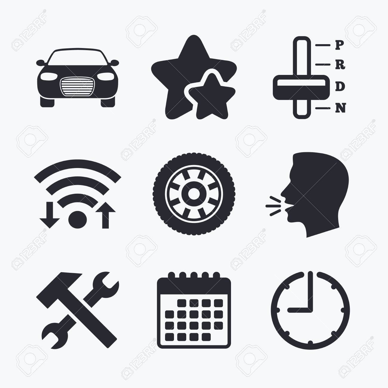Transport Icons Car Tachometer And Automatic Transmission Symbols Royalty Free Cliparts Vectors And Stock Illustration Image 62703653