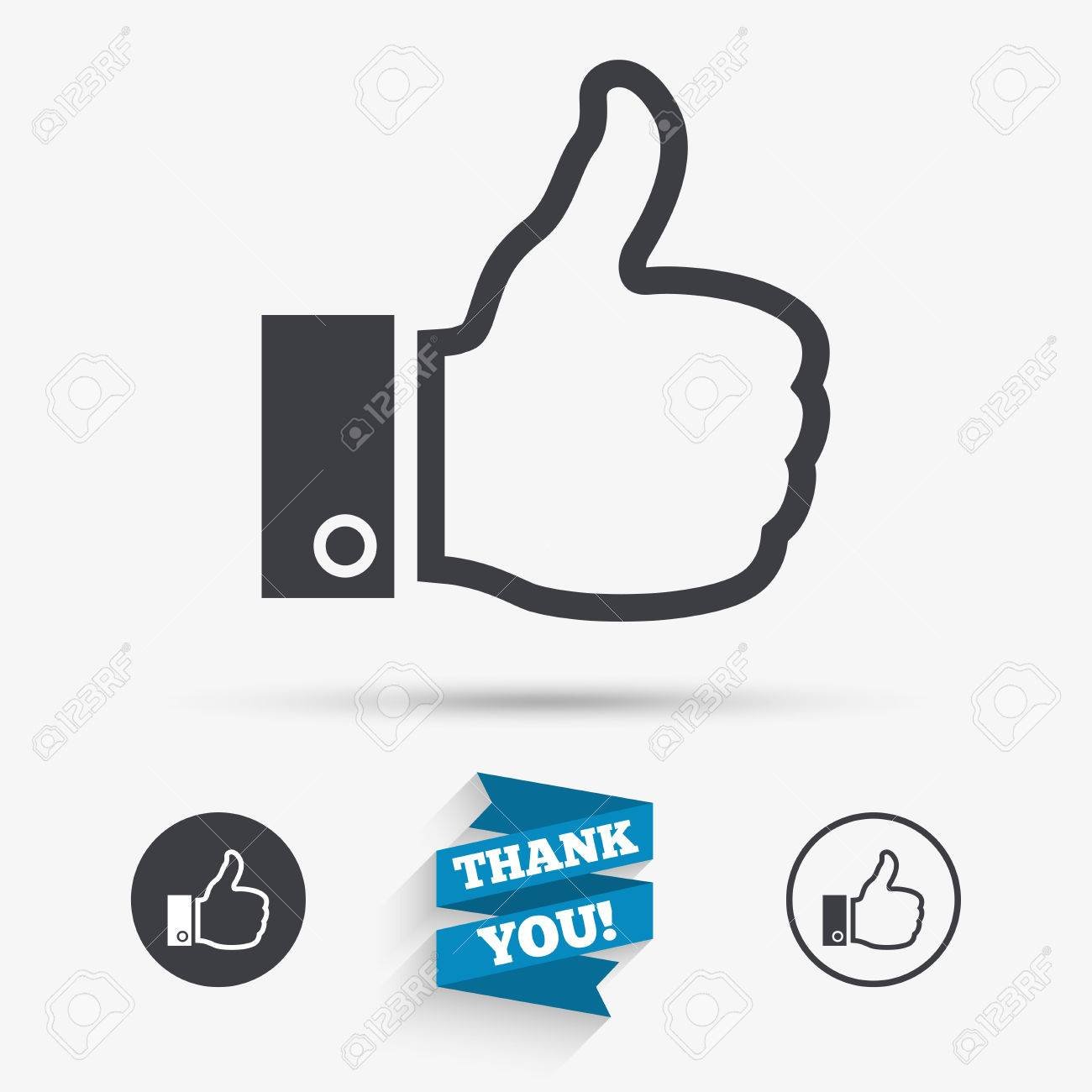 Like Sign Icon Thumb Up Sign Hand Finger Up Symbol Flat Icons