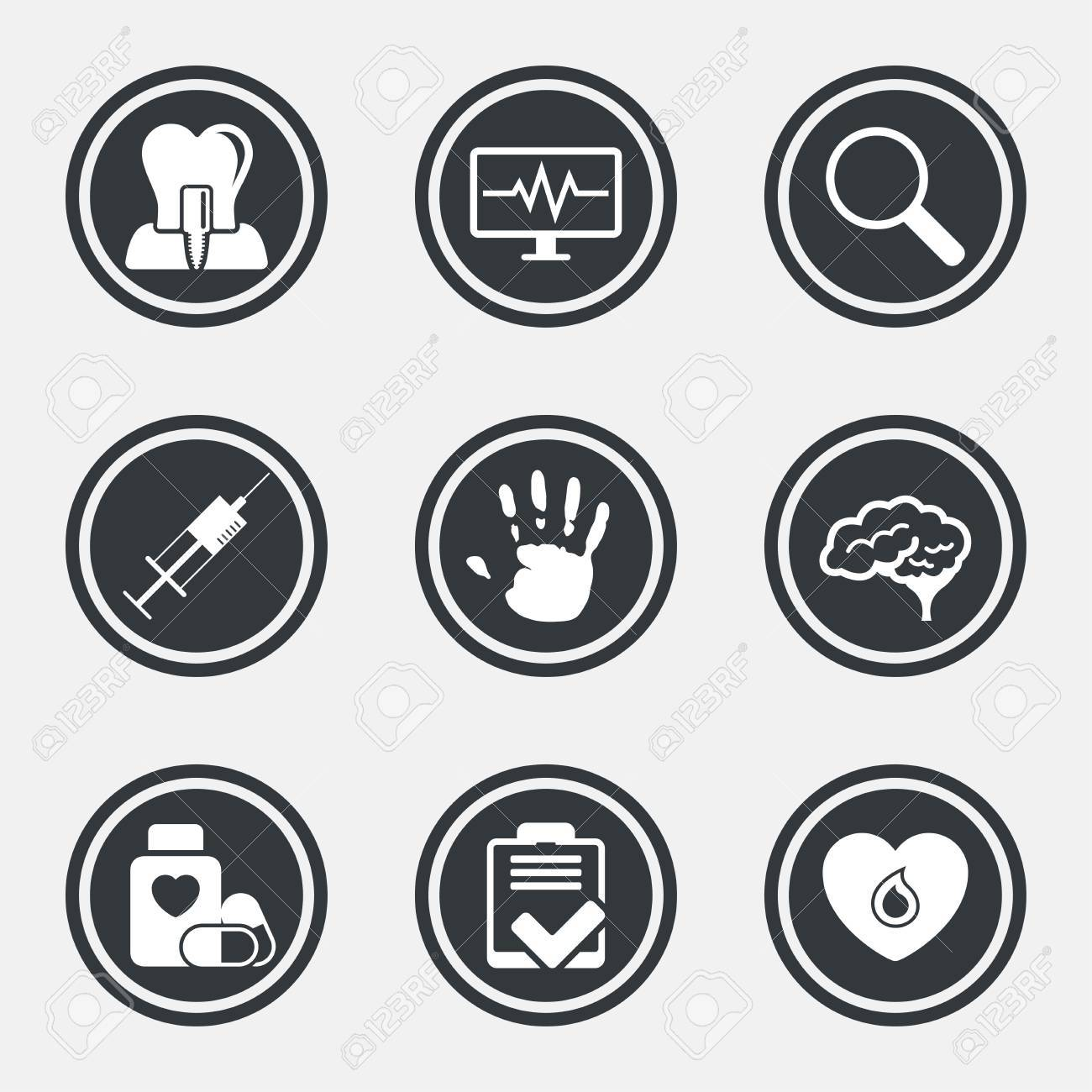 Medicine medical health and diagnosis icons blood syringe medicine medical health and diagnosis icons blood syringe injection and neurology signs biocorpaavc