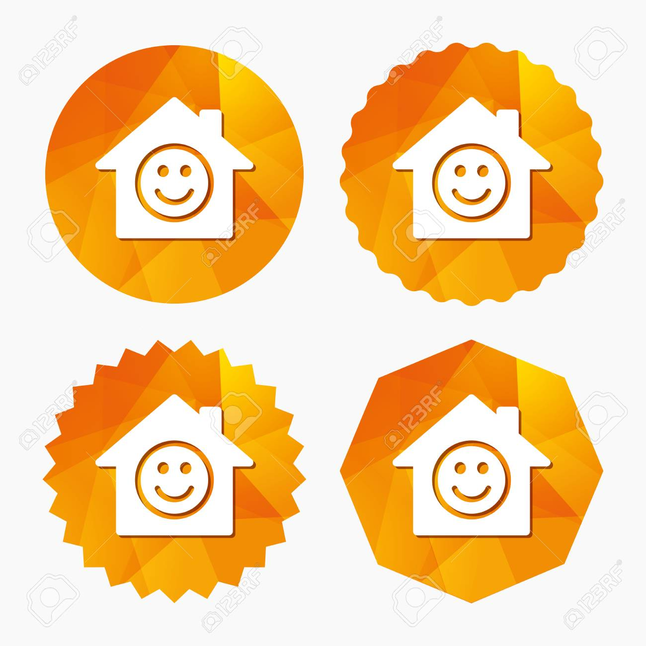 Comedy Club Smile Icon Happy Face Chat Symbol Triangular Low