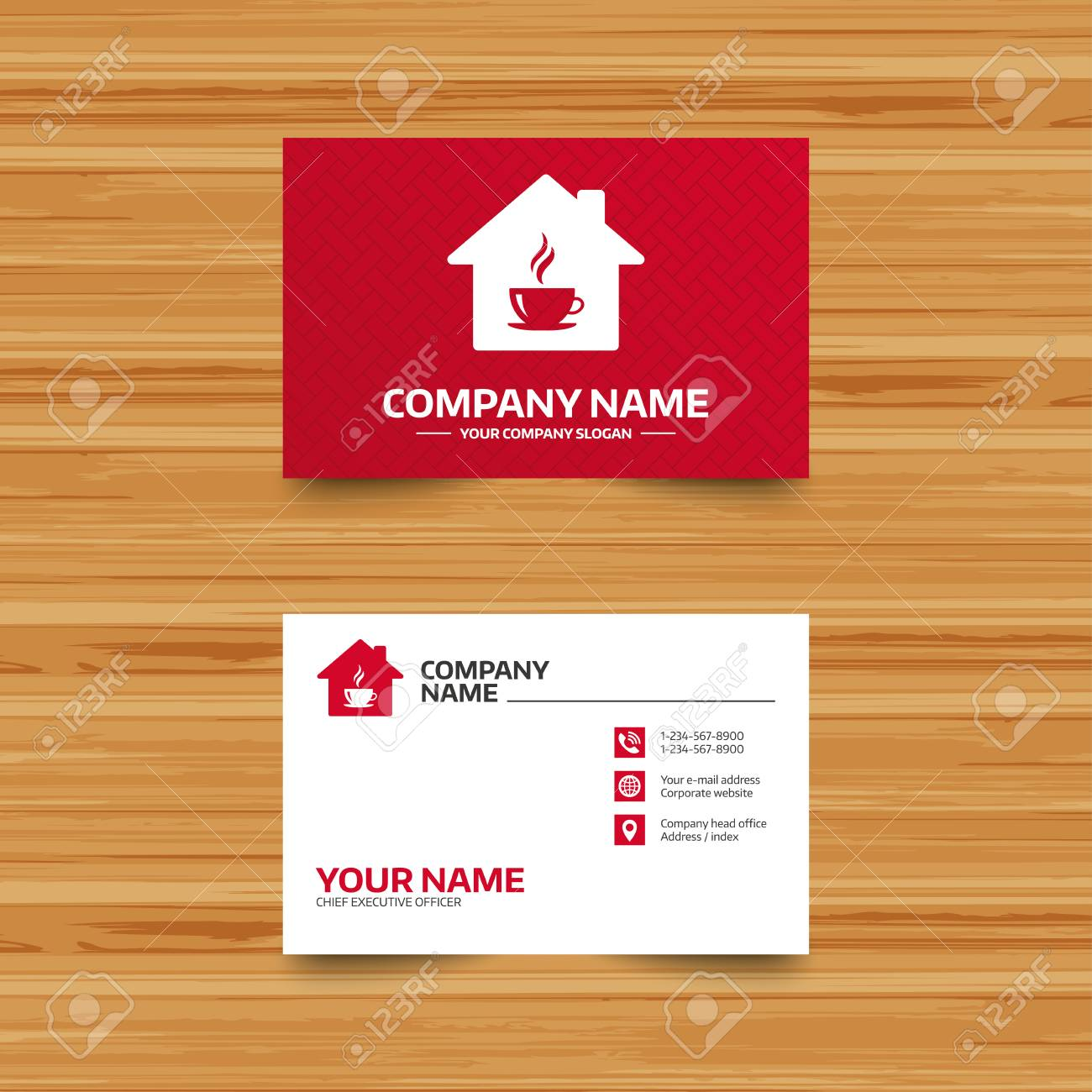 Business card template coffee shop icon hot coffee cup sign business card template coffee shop icon hot coffee cup sign hot tea drink wajeb Images