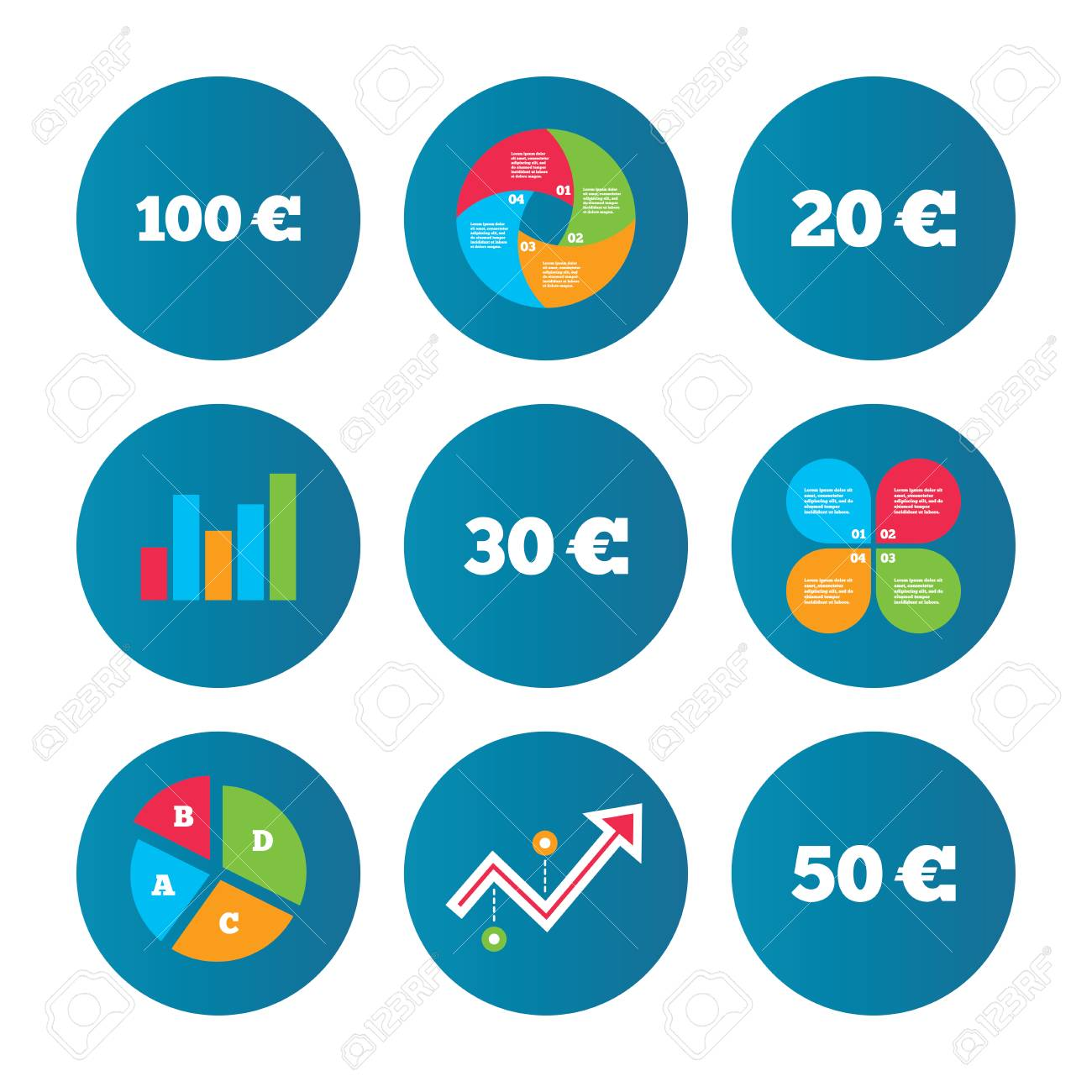 Business pie chart growth curve presentation buttons money business pie chart growth curve presentation buttons money in euro icons 100 geenschuldenfo Gallery