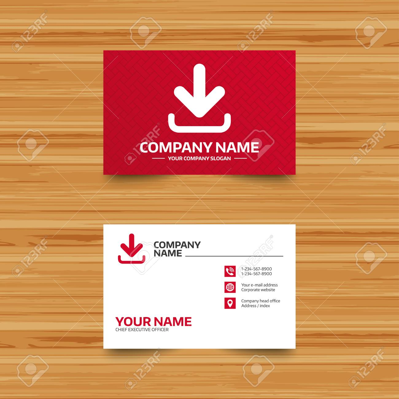Business Card Template. Download Icon. Upload Button. Load Symbol ...