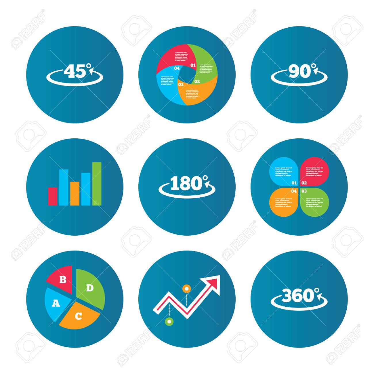 Business pie chart growth curve presentation buttons angle business pie chart growth curve presentation buttons angle 45 360 degrees icons geenschuldenfo Image collections