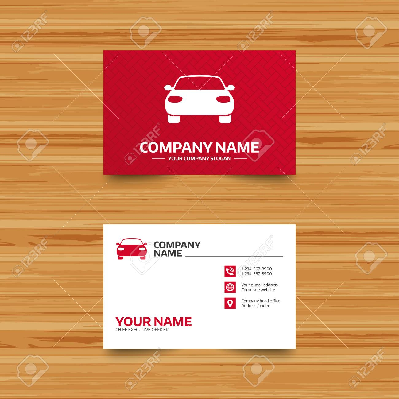 Business Card Template. Car Sign Icon. Delivery Transport Symbol ...