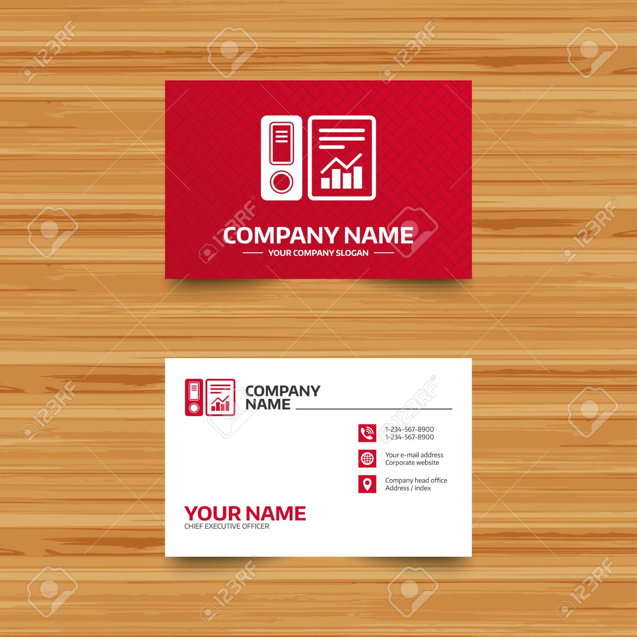 Business Card Template Document Folder Sign Accounting Binder