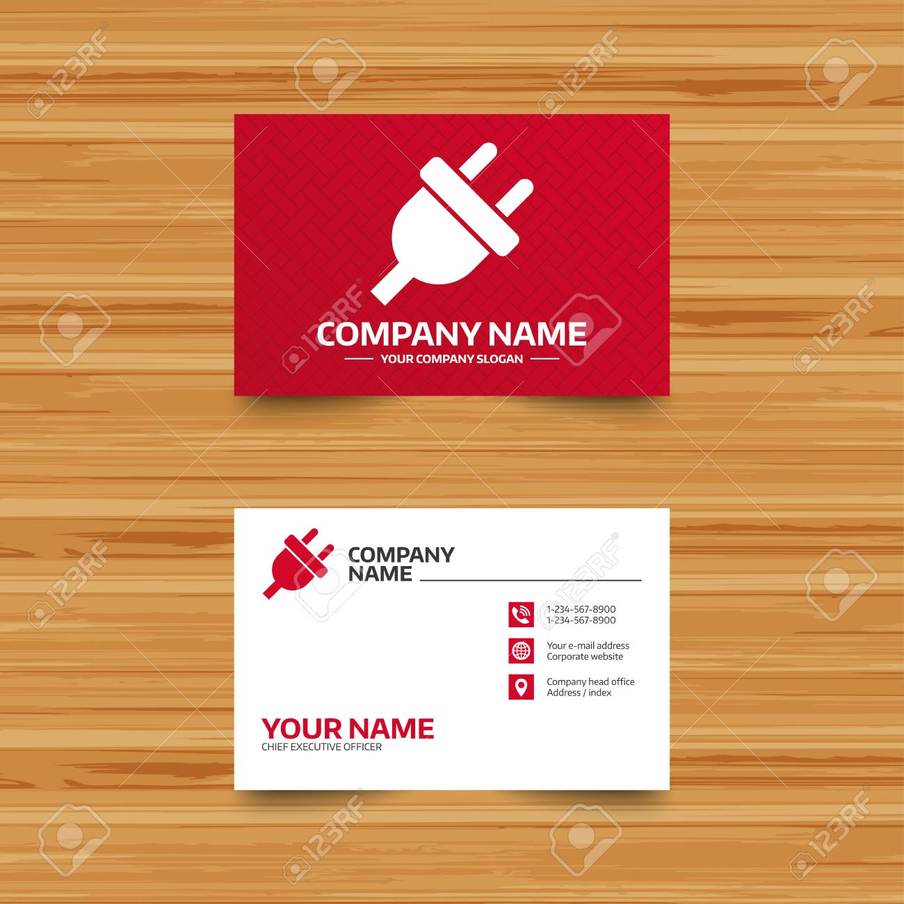 Business card template electric plug sign icon power energy business card template electric plug sign icon power energy symbol phone globe colourmoves
