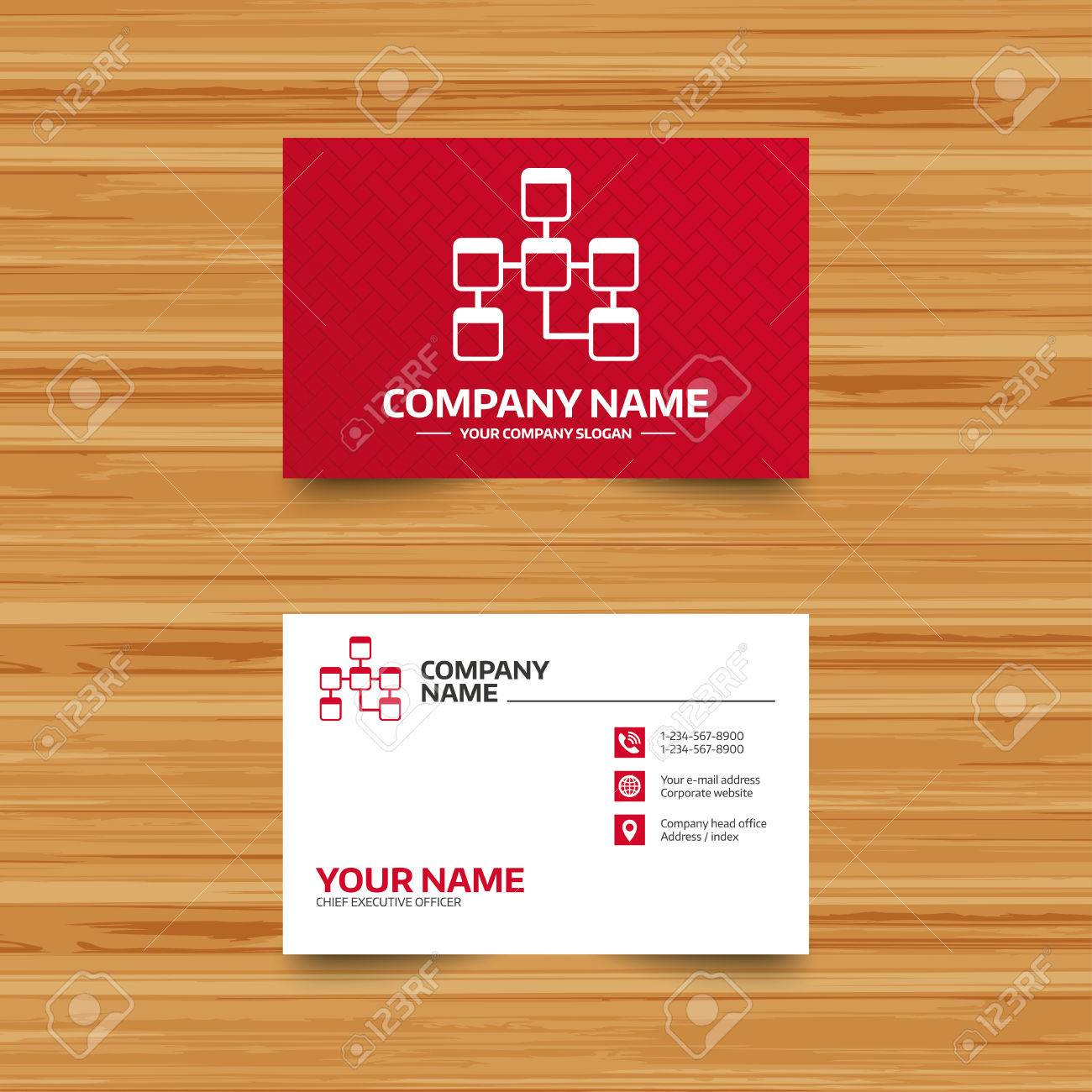 Business card template database sign icon relational database business card template database sign icon relational database schema symbol phone globe reheart