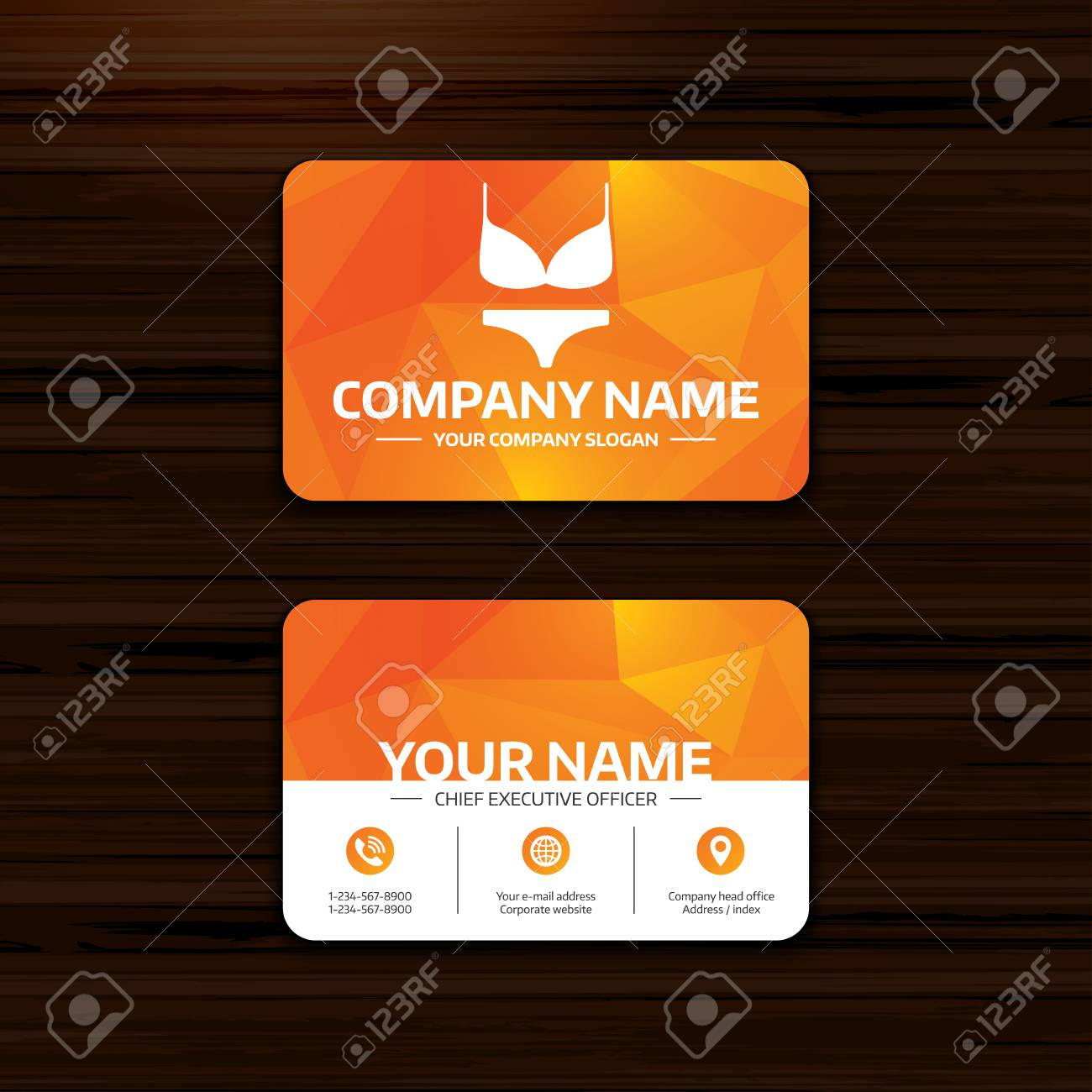 Business or visiting card template women bra and panties sign business or visiting card template women bra and panties sign icon intimates underwear symbol colourmoves