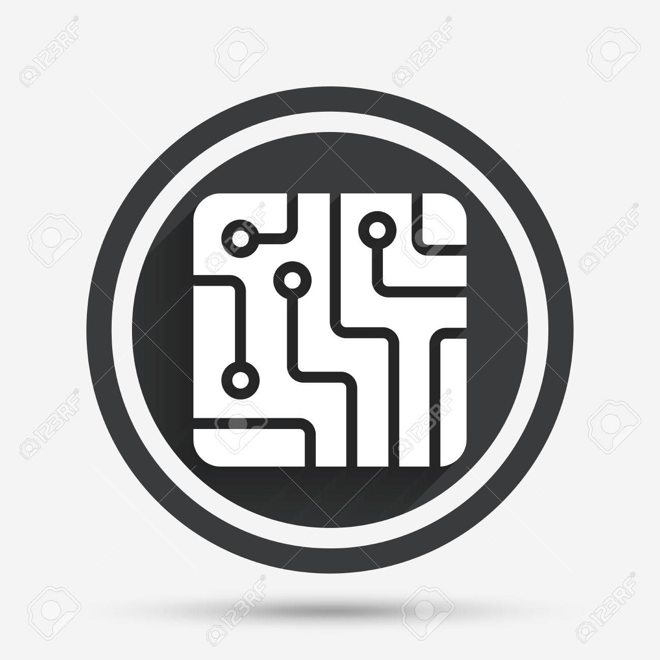 Circuit Board Sign Not Lossing Wiring Diagram Symbol For Led Icon Technology Scheme Square Circle Rh 123rf Com Symbols Signs Physical Education