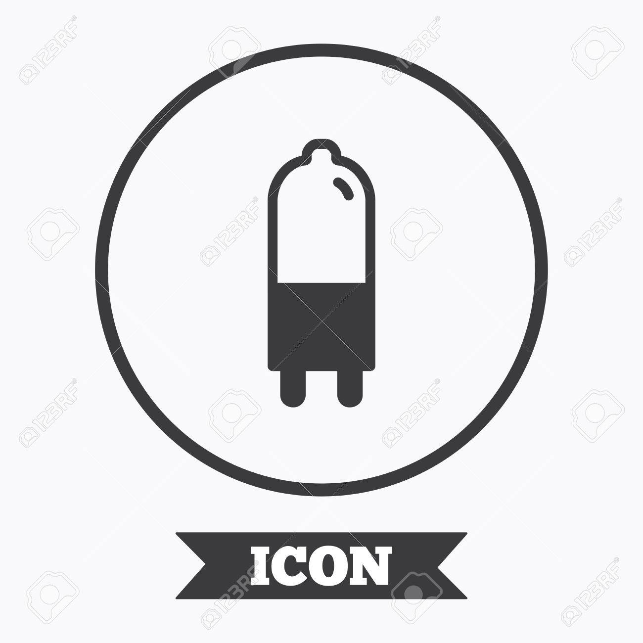 Light Bulb Icon. Lamp G9 Socket Symbol. Led Or Halogen Light ...
