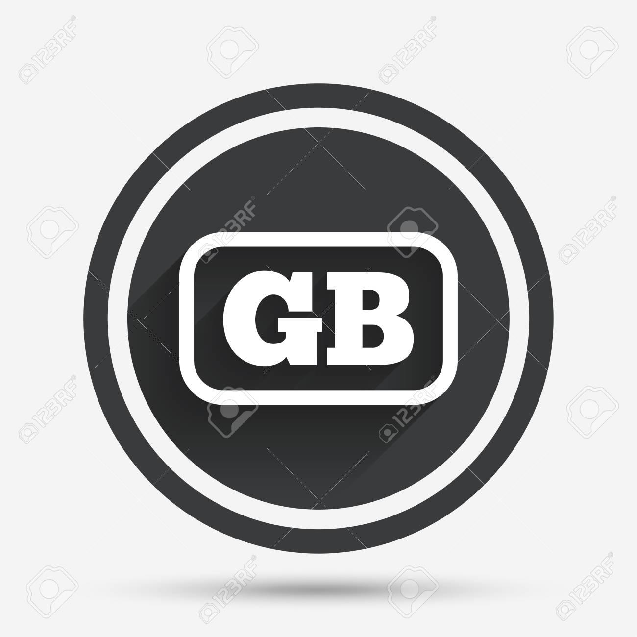 Británica Icono De Lenguaje De Signos. Símbolo De Traducción GB Gran ...