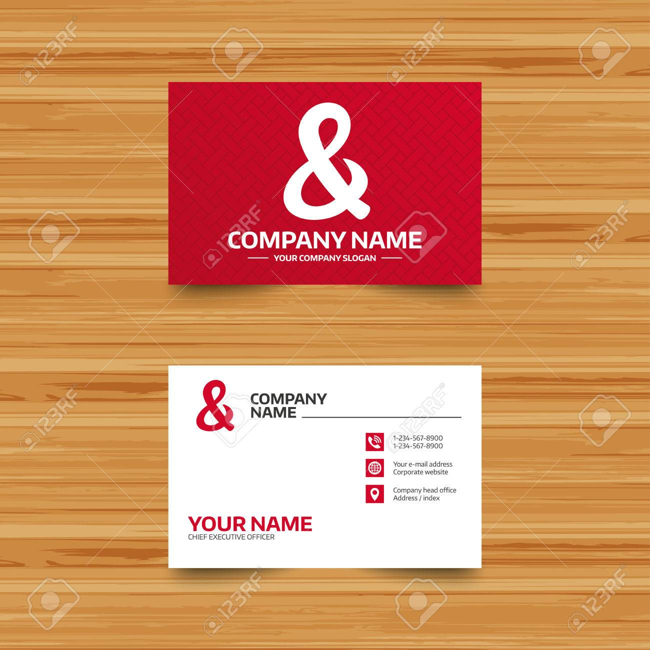 Business Card Template. Ampersand Sign Icon. Programming Logical ...