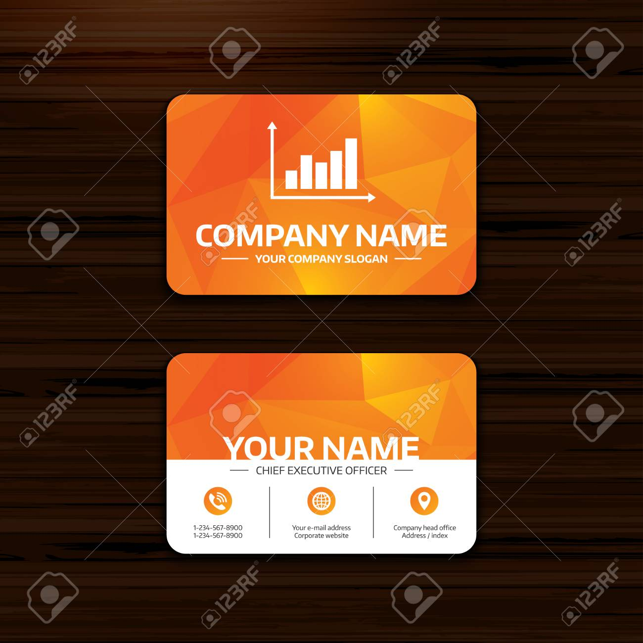 Business or visiting card template graph chart sign icon diagram business or visiting card template graph chart sign icon diagram symbol statistics colourmoves