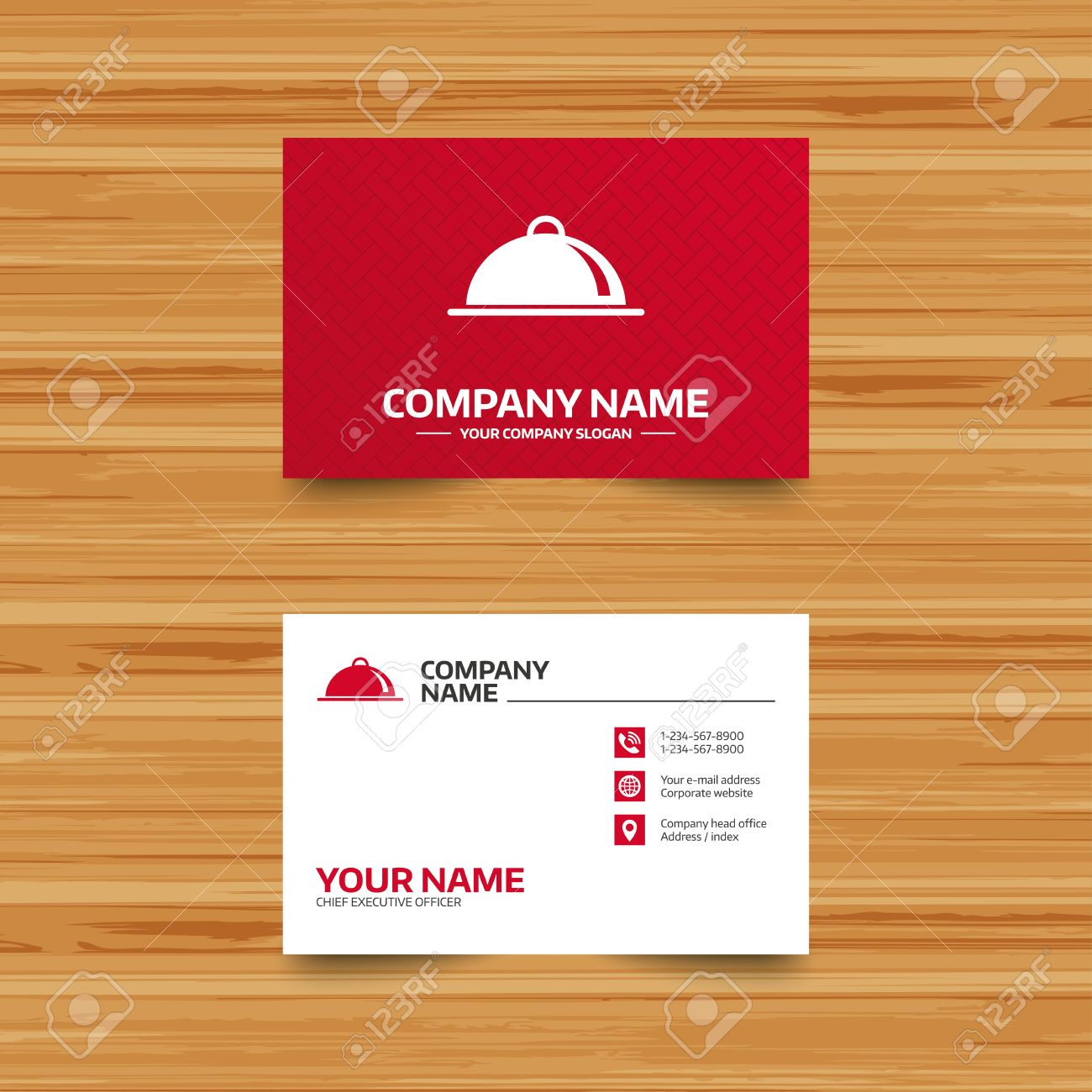 Business card template food platter serving sign icon table business card template food platter serving sign icon table setting in restaurant symbol cheaphphosting Image collections