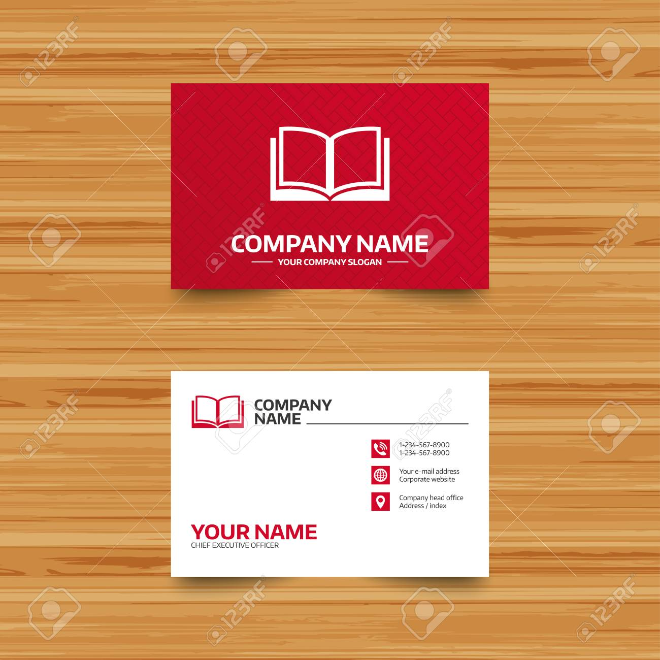 Business card template book sign icon open book symbol phone business card template book sign icon open book symbol phone globe and colourmoves